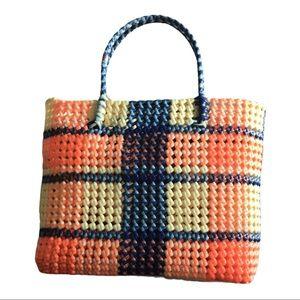 Vintage plastic shopping tote bag